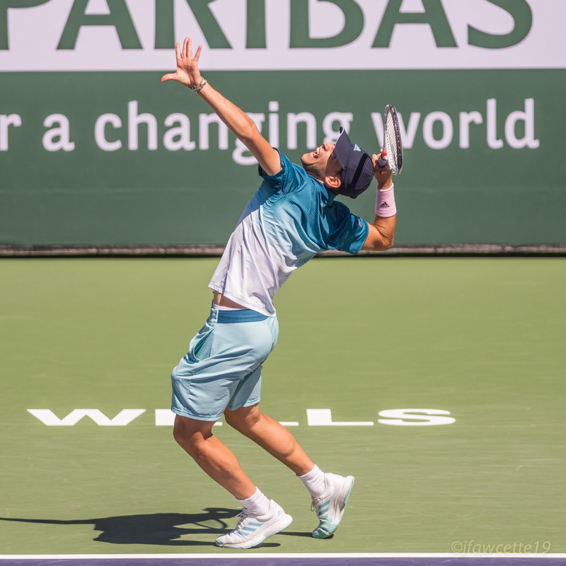 Extreme arch, all 3 from his title win over Fed at Indian Wells in March